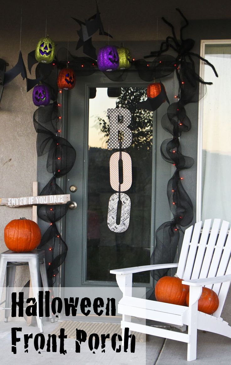 Halloween front porch decorations - Halloween Front Porch Decor