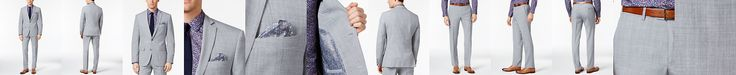 Bar III Men's Light Gray Slim Fit Suit Separates, Only at Macy's