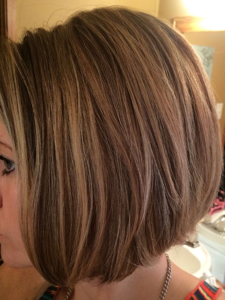 Hair by Elizabeth at Euphoria Salon in Pueblo, Colorado. Two brunette highlights, a blonde highlight and then my natural hair mixed in.