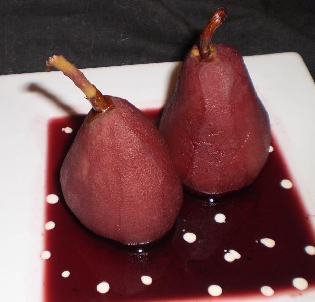Shakespearian Pears in Wine