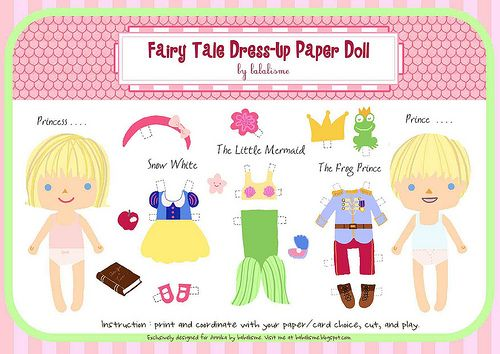 Free Printable Fairy Tale Paper Dolls