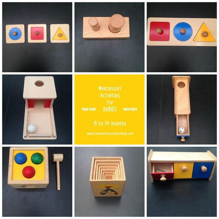 Montessori materials for babies 8 to 14 months www.themontessorinotebook.com