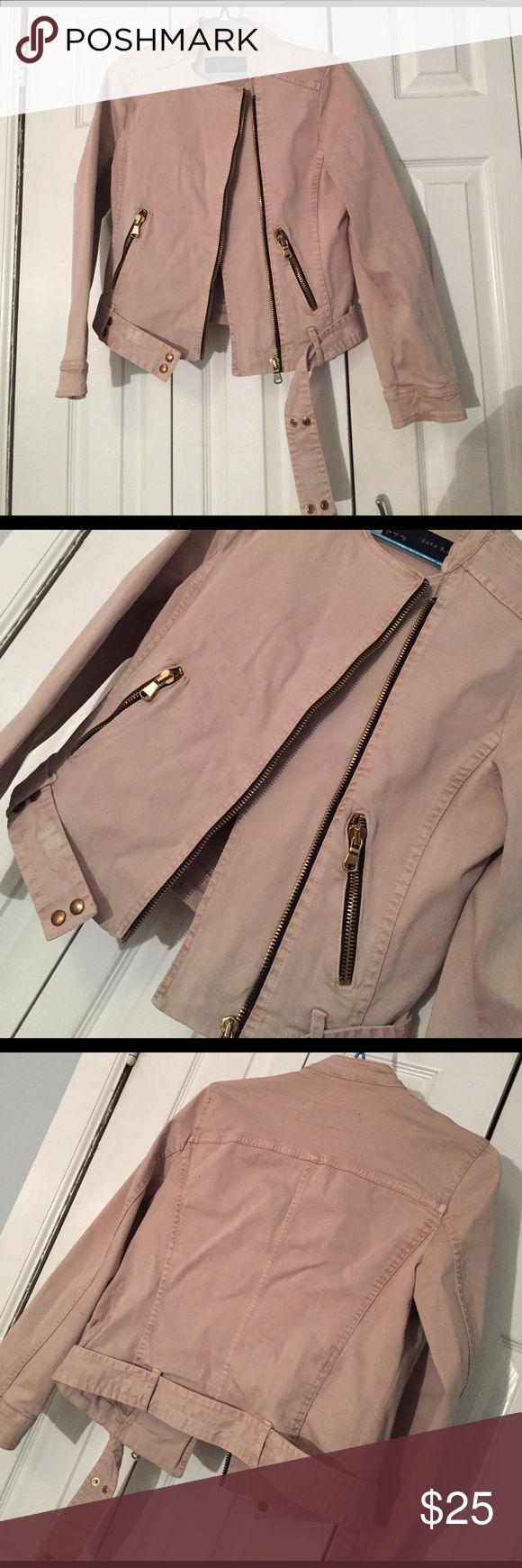 Beige zip up Moro jacket Zara jacket Zara Jackets & Coats Utility Jackets