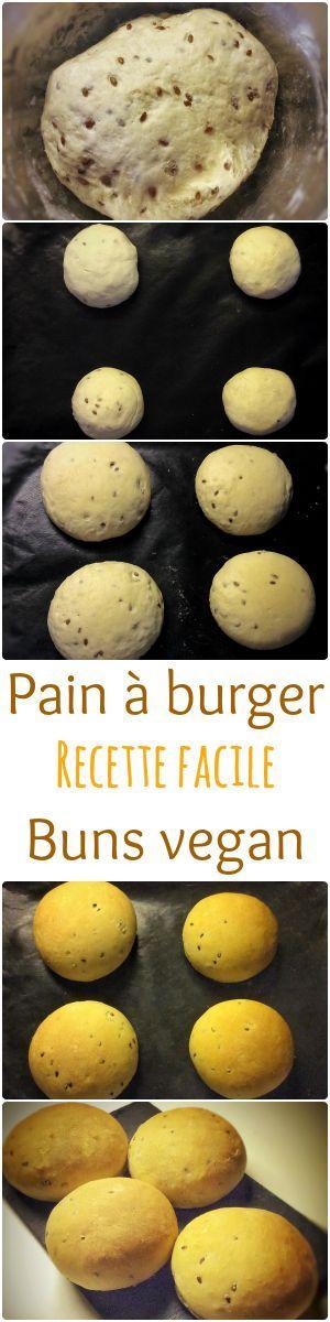 Recette de buns vegan, sans oeuf, sans lactose. Ces buns sont moelleux et facile à faire ! Recette sur mon blog : http://www.veganfreestyle.com/pain-a-burger-buns-vegan/