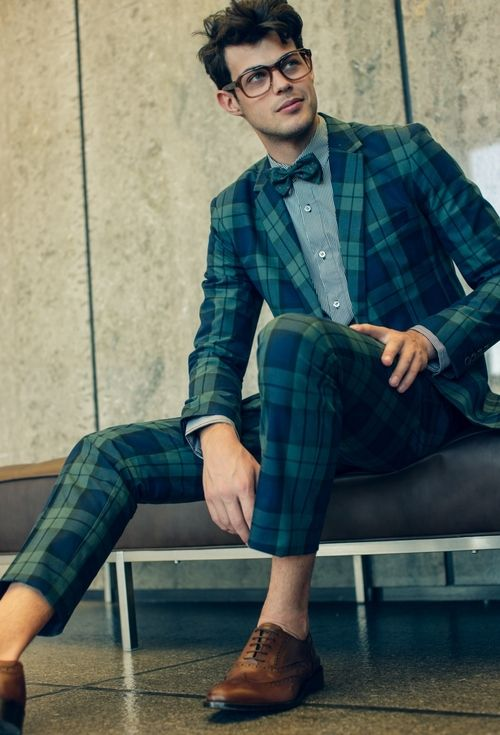 Black Watch Tartan Plaid Suit
