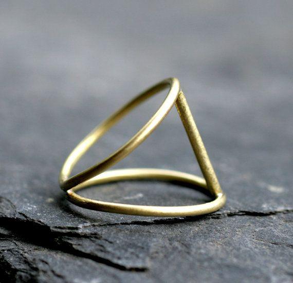 bar ring modern gold bar ring minimalist ring cage ring