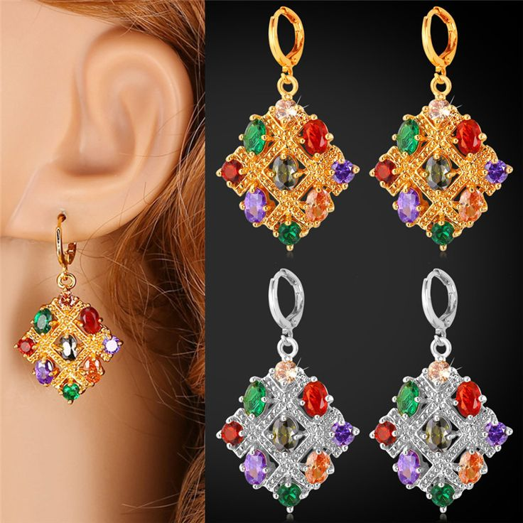 Cheap earrings 18k, Buy Quality earings fashion directly from China earrings zirconia Suppliers:                         Buy the matching items, please click following pictures:           Mix-Color Crystal E