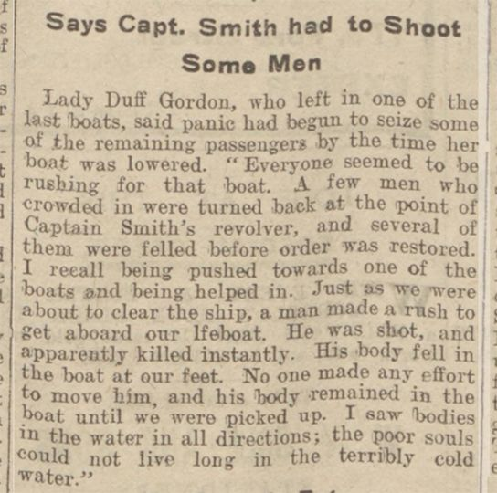 The Titanic Captain took out a pistol & shot men who were trying to get into the life boats, endangering the women & children.