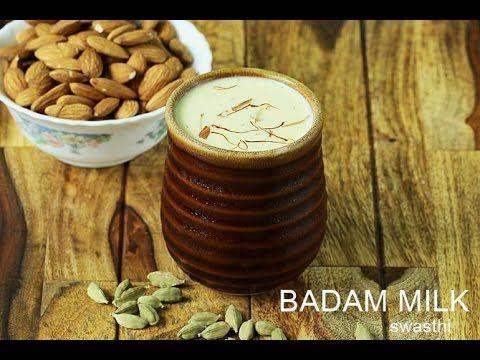 Badam milk recipe   How to make badam milk or badam doodh