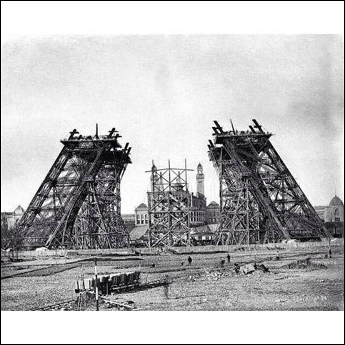 1876( ?) building the Eiffel Tower