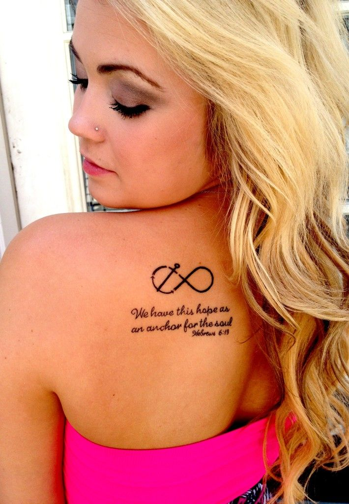 This is the only version of this tattoo that has the scripture included that I like. Simple, classic, beautiful.