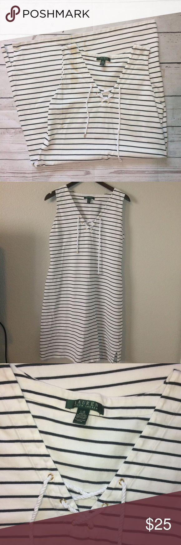 "🆕 Ralph Lauren | Striped Beach Dress! Brand new condition, worn once, Lauren Ralph Lauren striped dress. Size Large. Bust (armpit to armpit) 19"" Length is 37"" Make an Offer! Comment for questions :)    •Fast shipping 📦 •Top rated seller ⭐️⭐️⭐️⭐️⭐️ •Packaged with care 💌 •10% discount on 2+ bundles 🛍 Lauren Ralph Lauren Dresses Midi"
