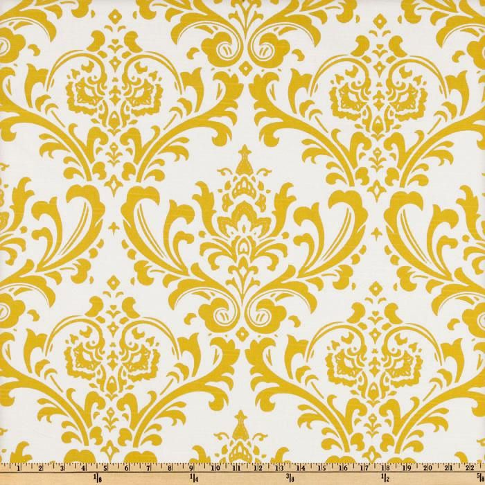 Premier Prints Traditions Slub Yellow/White