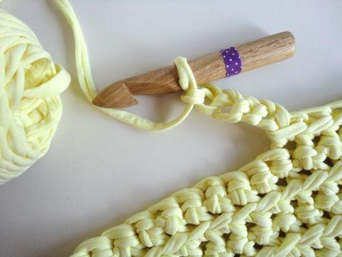 preparacion de las asas en bolso crochet