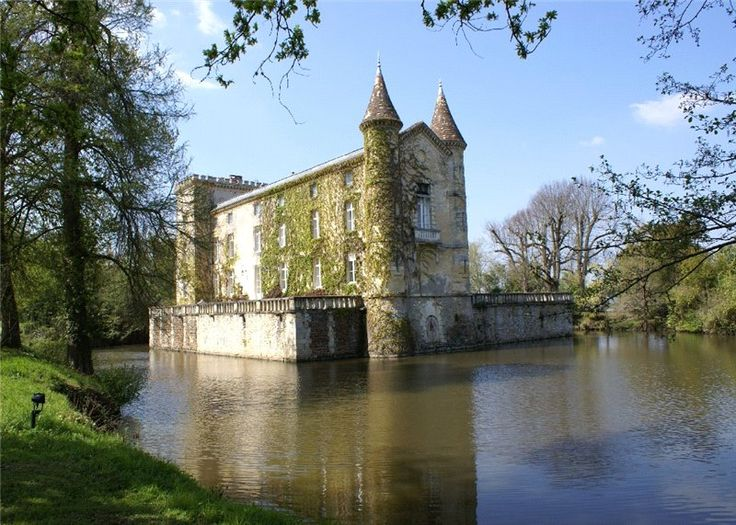 Your own private moat part of the 11th century foundation for Small chateau