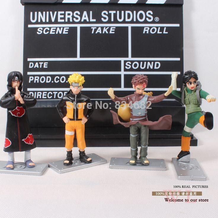 J.g чен аниме наруто узумаки наруто учиха итачи гаара рок ли PVC фигурки коллекционная модель игрушки куклы 4 шт./компл.