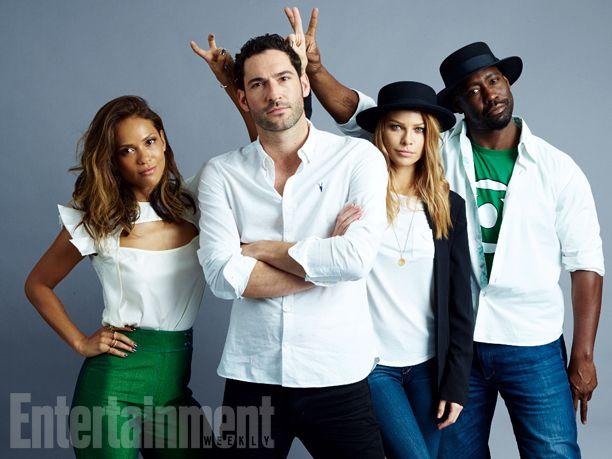 Comic-Con 2015 Star Portraits: Day 2 | Lesley-Ann Brandt, Tom Ellis, Lauren German, D.B. Woodside, 'Lucifer' | EW.com
