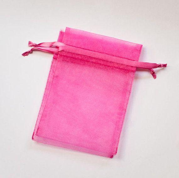 50 Organza Bags 4x6 inch Hot Dark Pink by BeautifulAdditions, $16.50