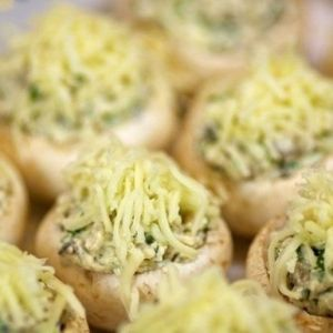 Mushrooms with chicken and cheese. Recipes with photos.