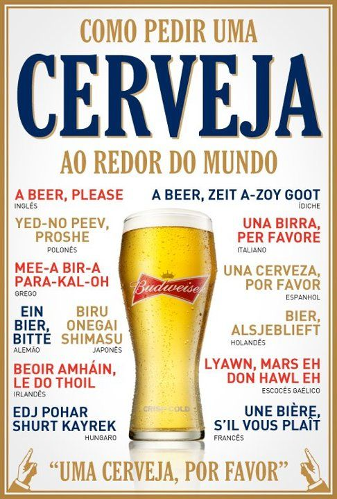 Aprenda a pedir a sua cerveja em diversas línguas