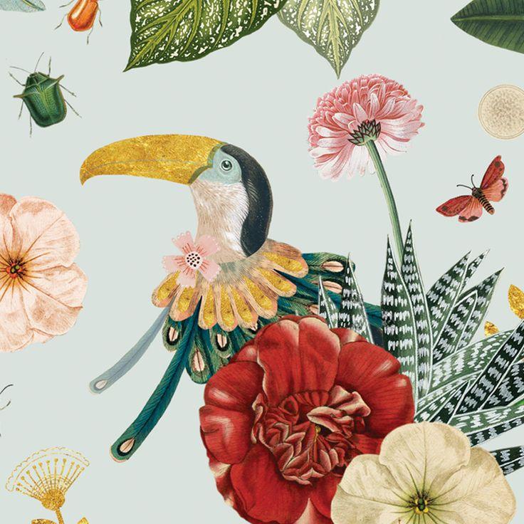 Mural tropisch behang | Pimpelmees