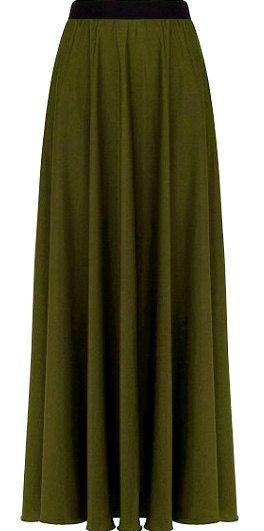 Army Green Full Circle Skirt-Maxi Skirts-Military Long Skirt-Olive Maxi Skirt-Maxi Skirt Beach wear skirt All Sizes beach skirt@sohoskirts