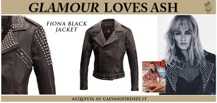 Il #chiodo di #Ash in morbidissima #pelle nera con #borchie #argentate #Fionablackjacket è apparso su #Glamour in un meraviglioso #editoriale!