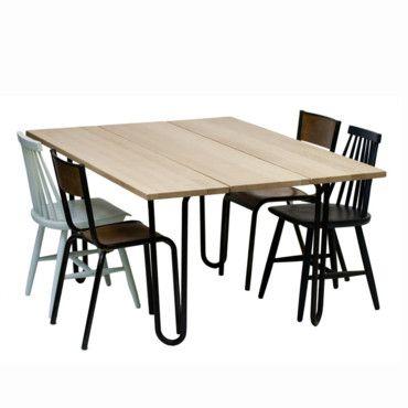 Tous à table : sélection de tables à manger et de chaises pour des repas au top : Table à manger industrielle Brunch, Rien à cirer - Déco - Plurielles.fr