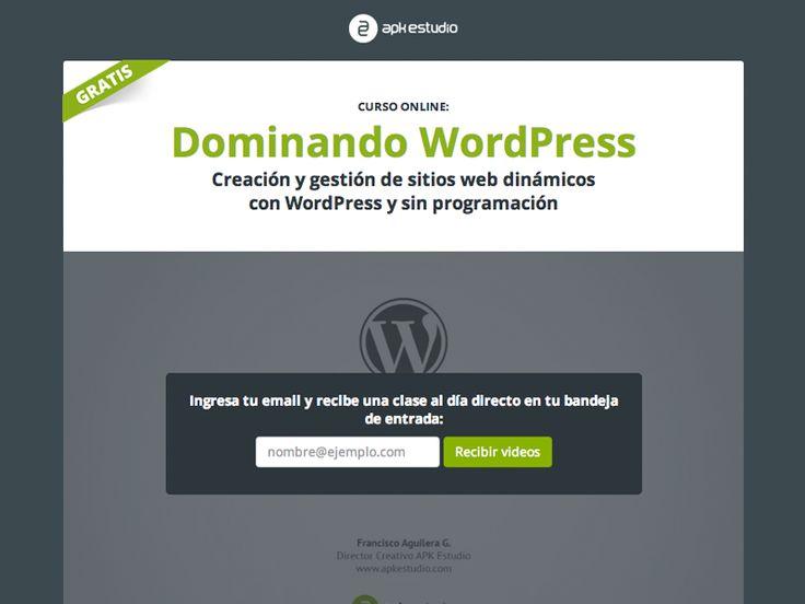 Landing page curso Dominando WordPress by Francisco Aguilera G.