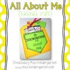 All About Me {Backpack Craft}: This backpack craft is a fun way for your students to share a little about themselves! 4.00
