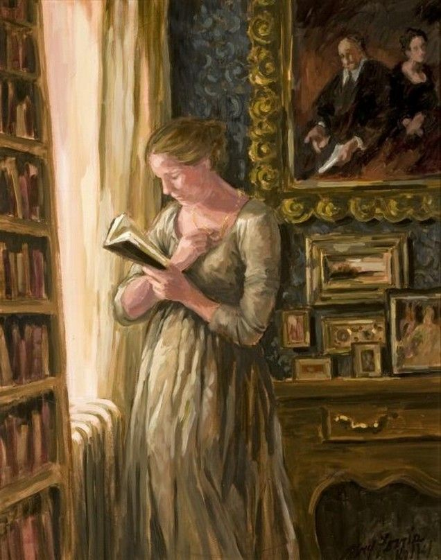 Woman Reading in a Study. Mary Ferris Kelly.