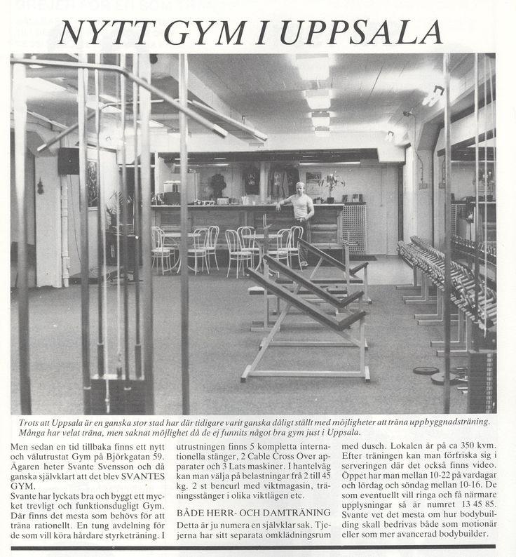 Sweden Uppsala - Svantes Gym 1981