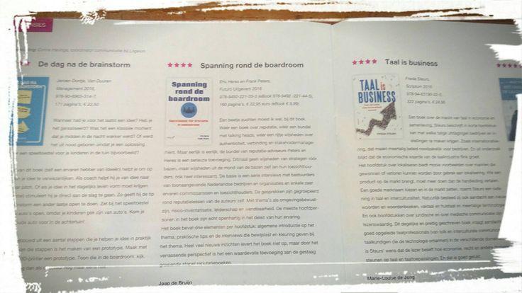 """Mooie recensie van het boek 'Spanning rond de boardroom' van Frank Peters en Eric Heres in Magazine C van Logeion: """"Met wijsheden uit de mond van de bazen zelf (en hun toezichthouders)"""". #spanningronddeboardroom #frankpeters #ericheres #logeion #futurouitgevers"""