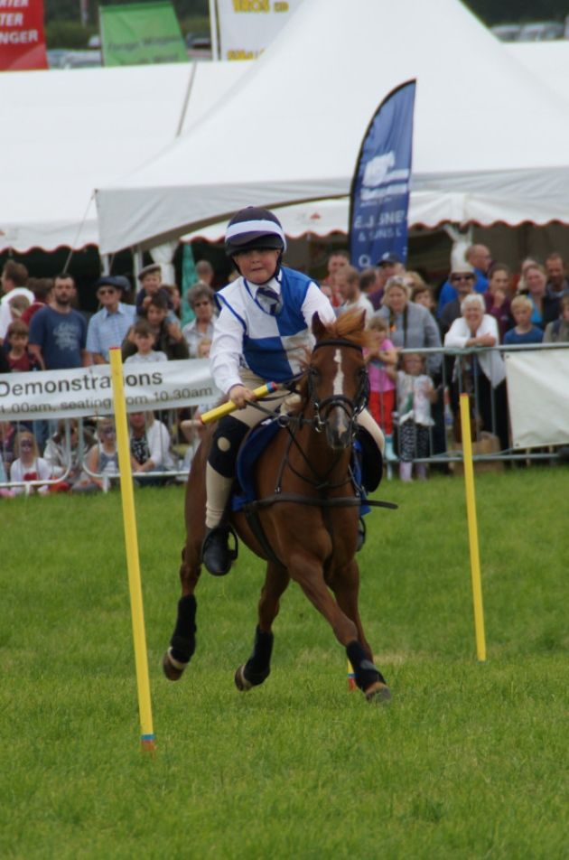 Pony club games in the main arena. Picture: Andy Keeble