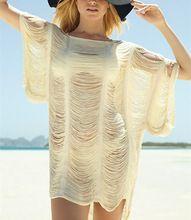 Вязка крючком бикини купальный костюм пляж крышка - вверх воротник с открытой шеей кисточка саронг парео туника сексуальный саронг купальник отпуск гавайский платье(China (Mainland))