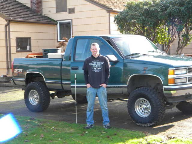 Chevrolet green lifted Chevy Silverado Z71 truck  Just needs whips and a lil bit bigger lift then it would look exactly like my truck!