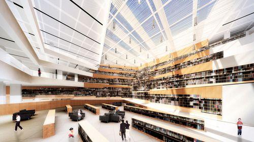 Datong Library, Shanxi | China (by Preston Scott Cohen)