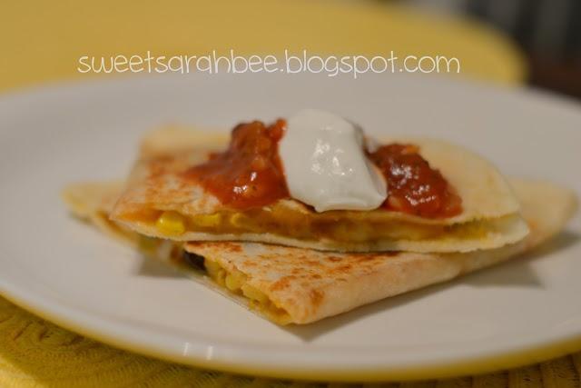 Corn And Black Bean Quesadillas With Roast Zucchini Salsa Recipe ...