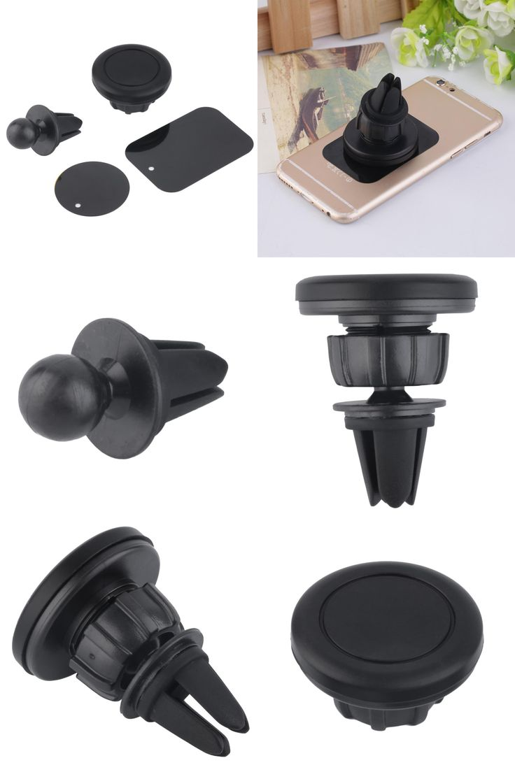 [Visit to Buy] Universal Car Air Vent Mount Clip Magnetic Holder Dock For iPhone For Samsung Magnet holder Tablet GPS suporte para celular #Advertisement