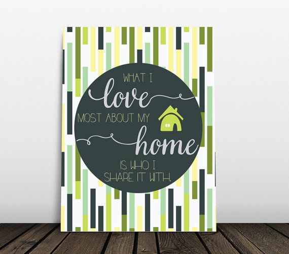 Home Print Wall Art Decor New House Gift by JessPoutreDesigns