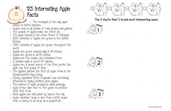 125 Interesting Apple Facts. FREEBIE