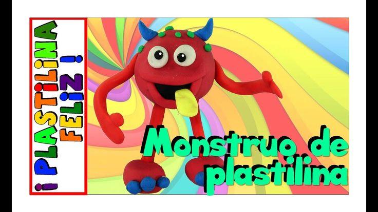 Monstruo de plastilina tutorial paso a paso.