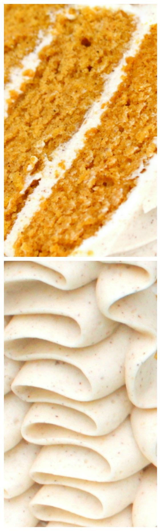 Delicious Homemade Pumpkin Spice Cake from scratch ~ The perfect blend of spices & pumpkin…it is tender and flavorful, with spiced cream cheese frosting - There is just nothing better!