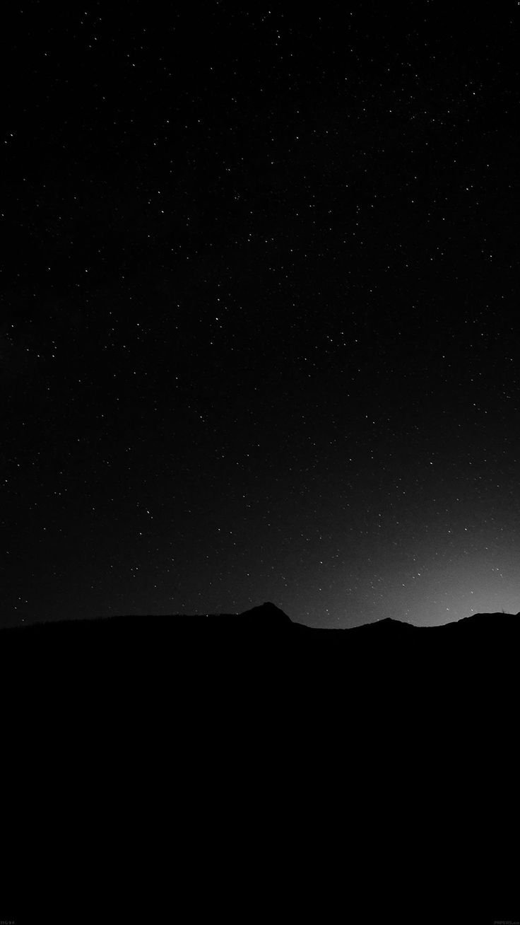 Night Sky Silent Wide Mountain Star Shining Nature iPhone 6 wallpaper