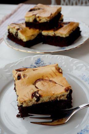 Krem Peynirli Brownie , Marbled Cream Cheese Brownies