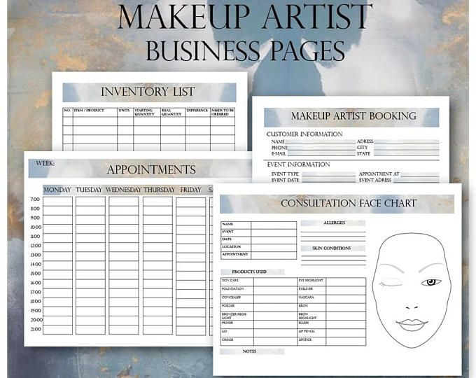 Bridal Makeup Contract Template Docx File Makeup Artist