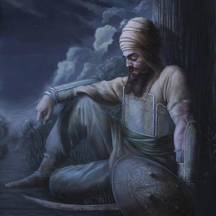 Awesome Painting Of Guru Gobind Singh Ji
