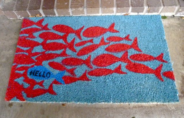 Should Probably Get My Fishy Welcome Mat Out Of My Bedroom