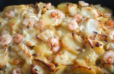 Bacalhau no forno com camarão e molho béchamel! Uma verdadeira delícia…