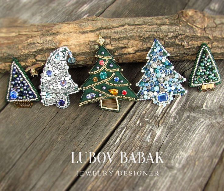 "43 Likes, 6 Comments - Lubov Babak (@babaklyubov) on Instagram: ""Hello! I'm glad to show you my small collection of Christmas trees brooches. Each of them is…"""